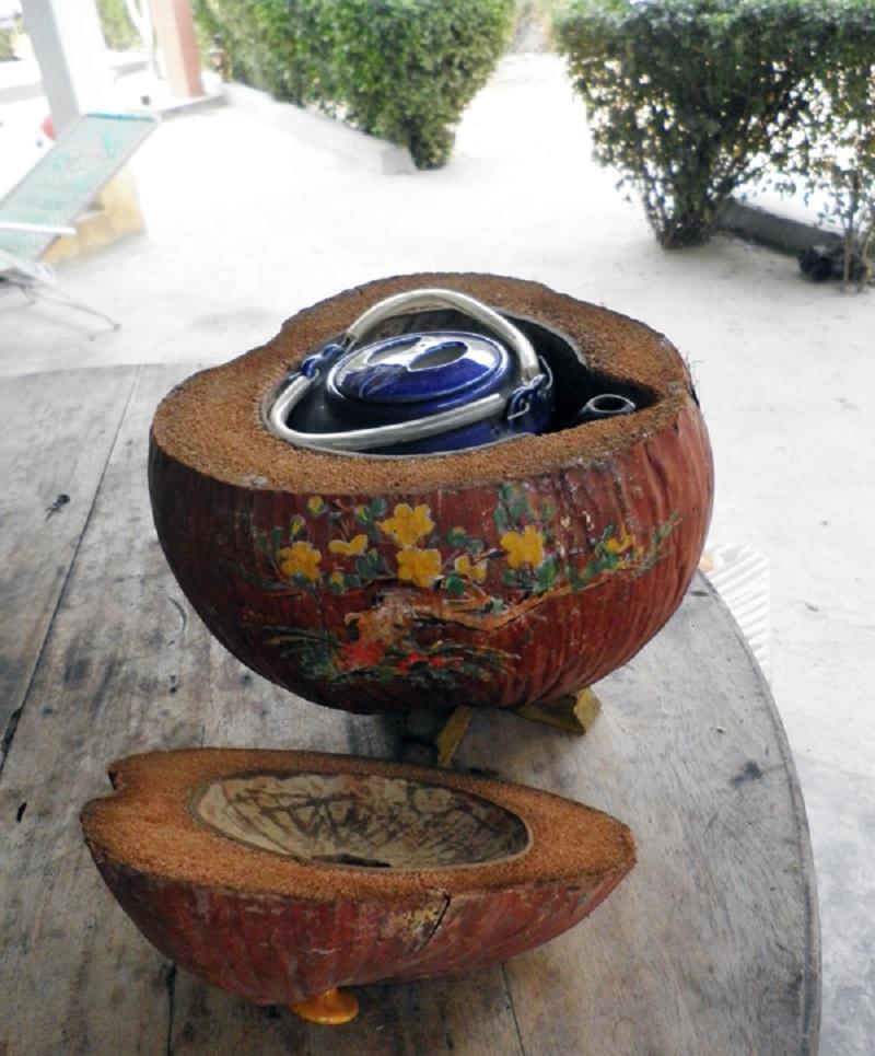 Vỏ bình giữ ấm trái dừa